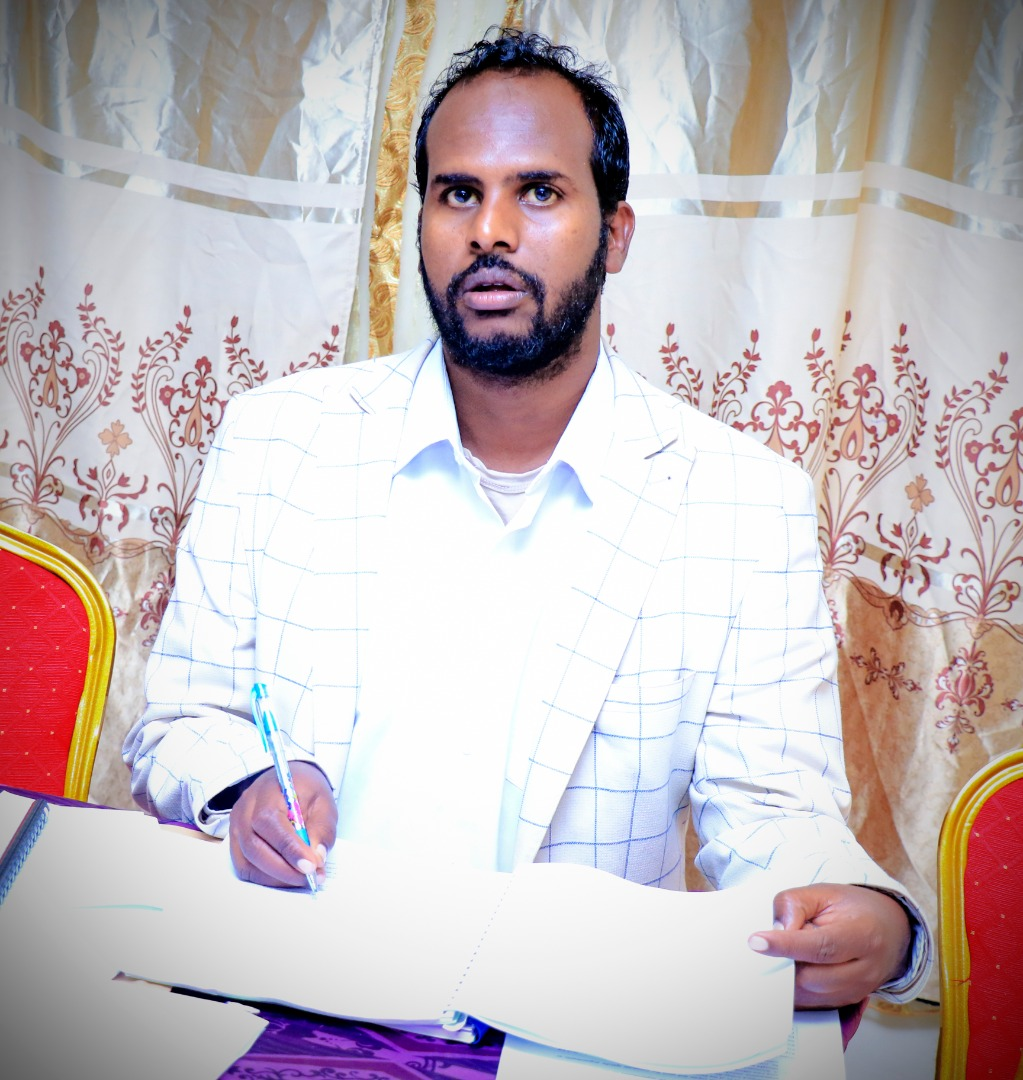 Zakariye Mohamed Ahmed, Assistant Dean, Borama Campus, Amoud University School of Postgraduate Studies and Research (AUSPGSR), following events closely, during the Research Proposal Viva Voce for second year Masters Degree Students held at AUSPGSR, Borama Campus, Tuesday, January 28th, 2020.